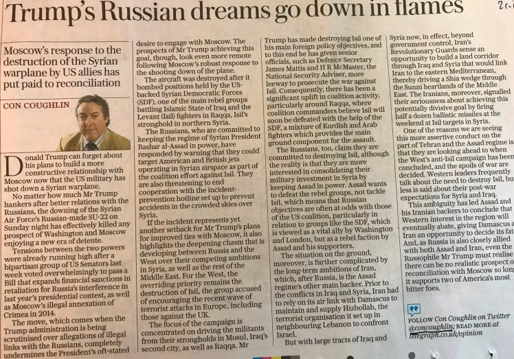 If @concoughlin believes what he writes&no realisic prospect of US-Russia detente,then job is done and,maybe,is time calm down on Russia