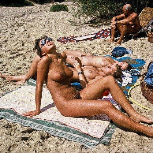 Nudist beach sunny side