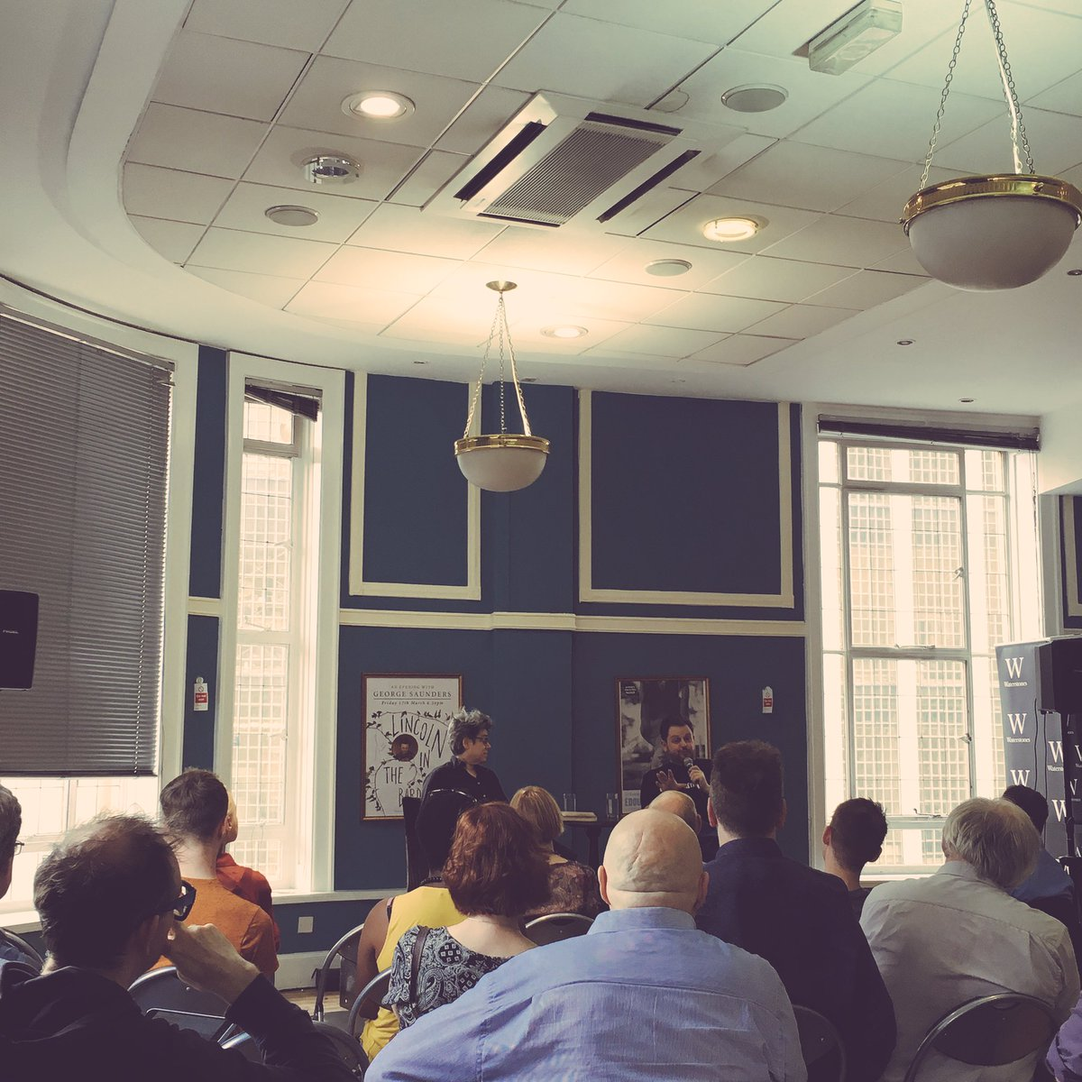 An evening of #PostTruth is underway: @MatthewdAncona &amp; Dr Monica Pearl in conversation. An  event to trump all others!<br>http://pic.twitter.com/jI01pRS3FI