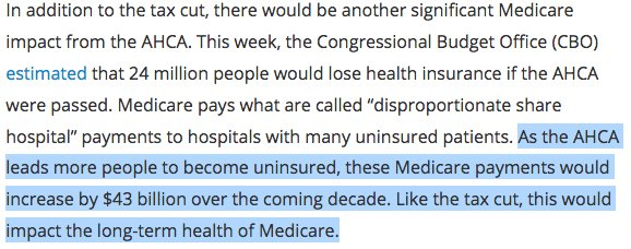 #AHCA would IMPACT the long-term financial solvency of #Medicare  #SaveACA 5/10<br>http://pic.twitter.com/GLlOa1EVjJ