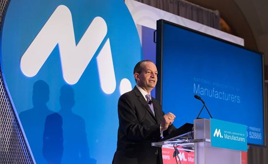 Thank you @SecretaryAcosta for addressing #manufacturers this morning &amp; for your focus on solving the #skillsgap. #MFGsummit<br>http://pic.twitter.com/Qkt5A1ZmnO