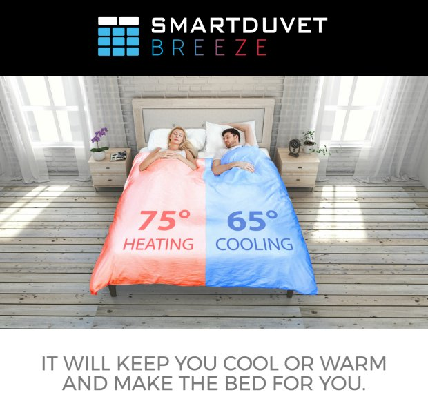 First debuted at #CES2017, @TheSmartDuvet will keep you cool or warm depending on your preference  http:// bit.ly/2sUnNZ4  &nbsp;   via @verge<br>http://pic.twitter.com/tBPUWOdWwi