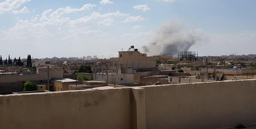 Airstrikes today on Raqqa