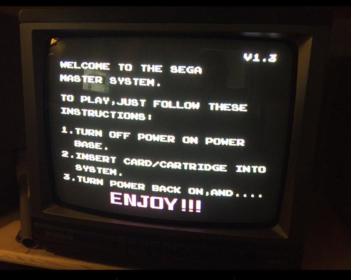 Sega Master System\'s no game cartridge  instructions #RETROGAMING #gamedev #gamers #segaforever #oldskool