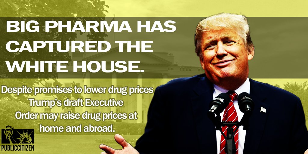 Last night, @nytimes reported on a draft exec order on #drugprices, proving #BigPharma&#39;s capture of @POTUS:  http:// nyti.ms/2rOl5Es  &nbsp;    Thread.<br>http://pic.twitter.com/8nAvJS9441
