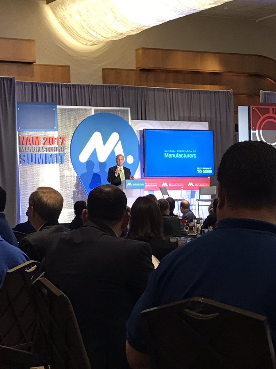 .@GOPLeader tells #manufacturers to invite Members of Congress to their facilities and have them meet employees - great advice! #MFGsummit<br>http://pic.twitter.com/yIhPlewp4I