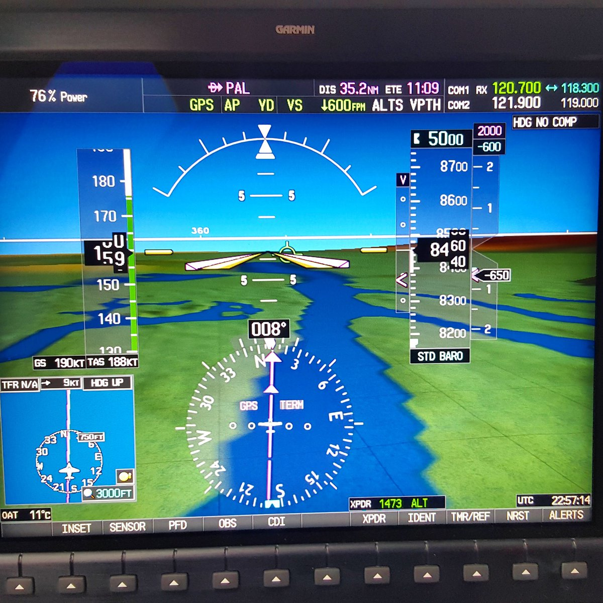 Here we go! Direct to PAL. #training #cirrusaircraft #sr22t #approach #segu #Guayaquil <br>http://pic.twitter.com/Tct6SUfOGC