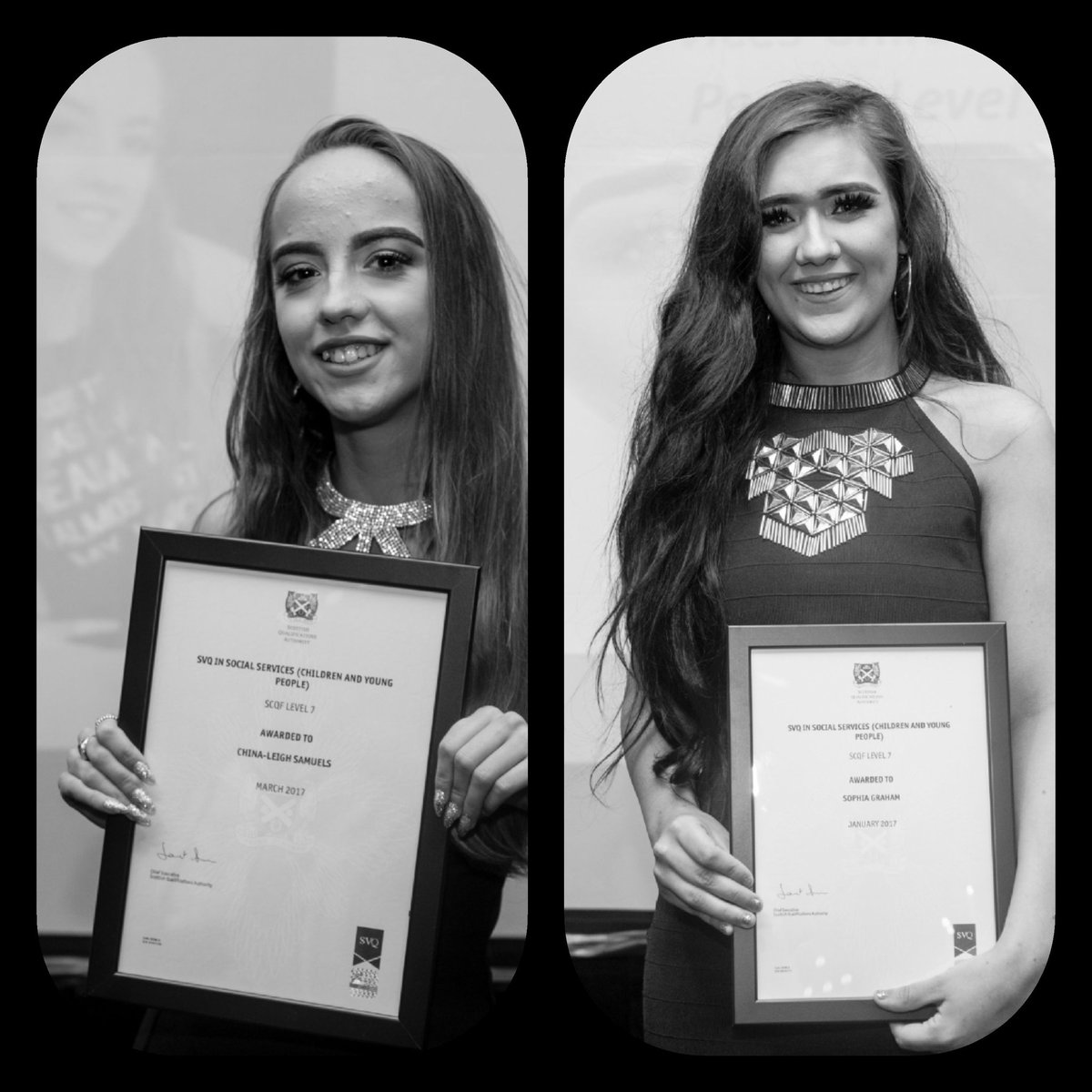 Our inspiring ladies @ChinaLeighS @soph961 at their recent graduation ceremony held by @TIGERS_UK #quality #achievinggoals #earlyyears<br>http://pic.twitter.com/k2h3ydVkbg