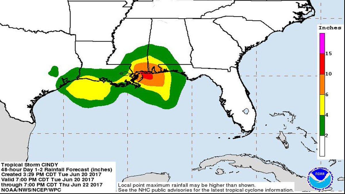 Cindy sending moisture into Central Florida https://t.co/wEu6Uu3Okb