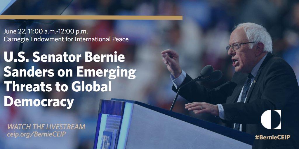 Starting soon--@SenSanders delivers remarks on global democracy. Watch...