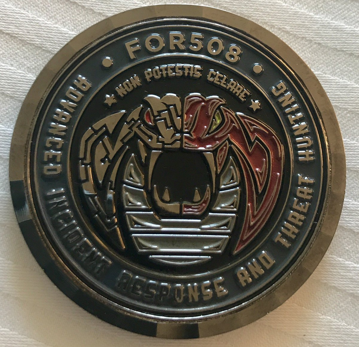 Brand new #FOR508 challenge coins to debut at #DFIRSummit THIS WEEK! https://t.co/mlOkcOGLTR