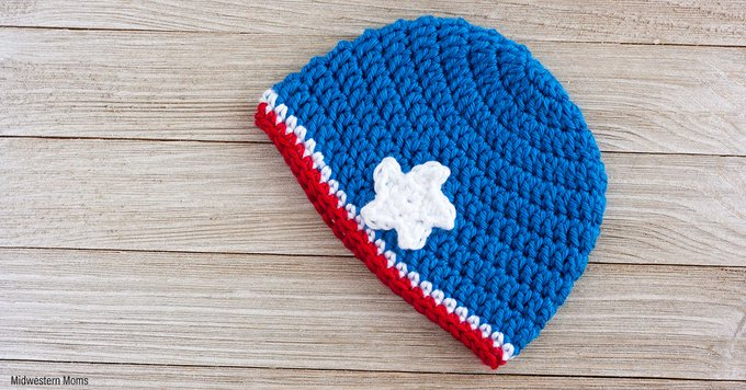 Patriotic Crochet Baby Hat Pattern