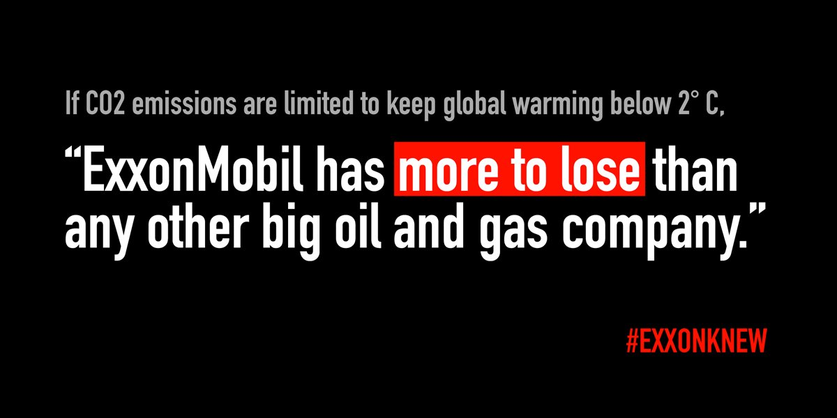The latest report to make pretty clear why Exxon&#39;s been fighting to prevent climate action for so long:  https:// insideclimatenews.org/news/20062017/ exxon-investment-climate-risk-2-degree-carbon-tracker &nbsp; …  #ExxonKnew <br>http://pic.twitter.com/qoX1K5dTAS