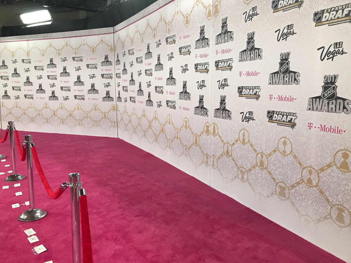 Almost time for the NHL Awards and #VegasDraft at @TMobileArena. https...