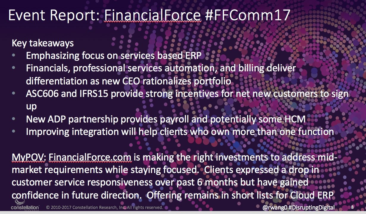 MyPOV: all you need to know from #FFComm17 @financialforce #cloud #ERP #PSA #CIO #CFO https://t.co/7pSwtXhzXN