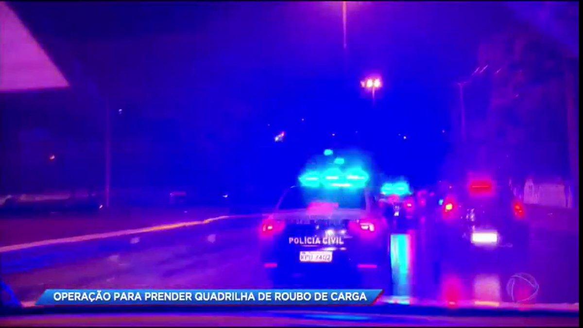 O #CidadeAlerta acompanha operação da polícia para prender quadrilha de roubo de carga em São João de Miriti (RJ)