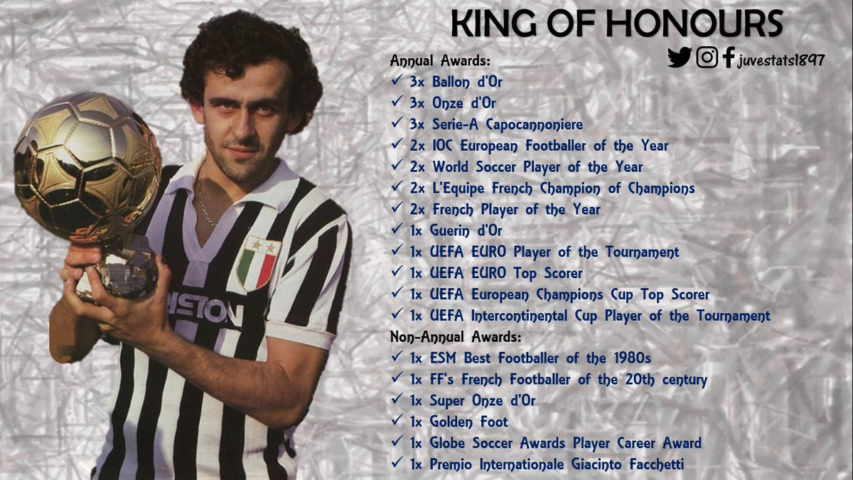 Happy Birthday to #Juve legend #Platini, who is 62 today [June 21]       The king  of honours  <br>http://pic.twitter.com/AmNZOvgis9