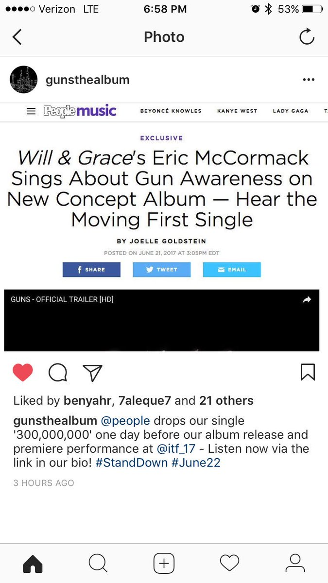 It&#39;s all happening!!! #june22 #standdown @GUNSthealbum drops TOMORORROW and @people is excited!!!<br>http://pic.twitter.com/AbGDxbzz50