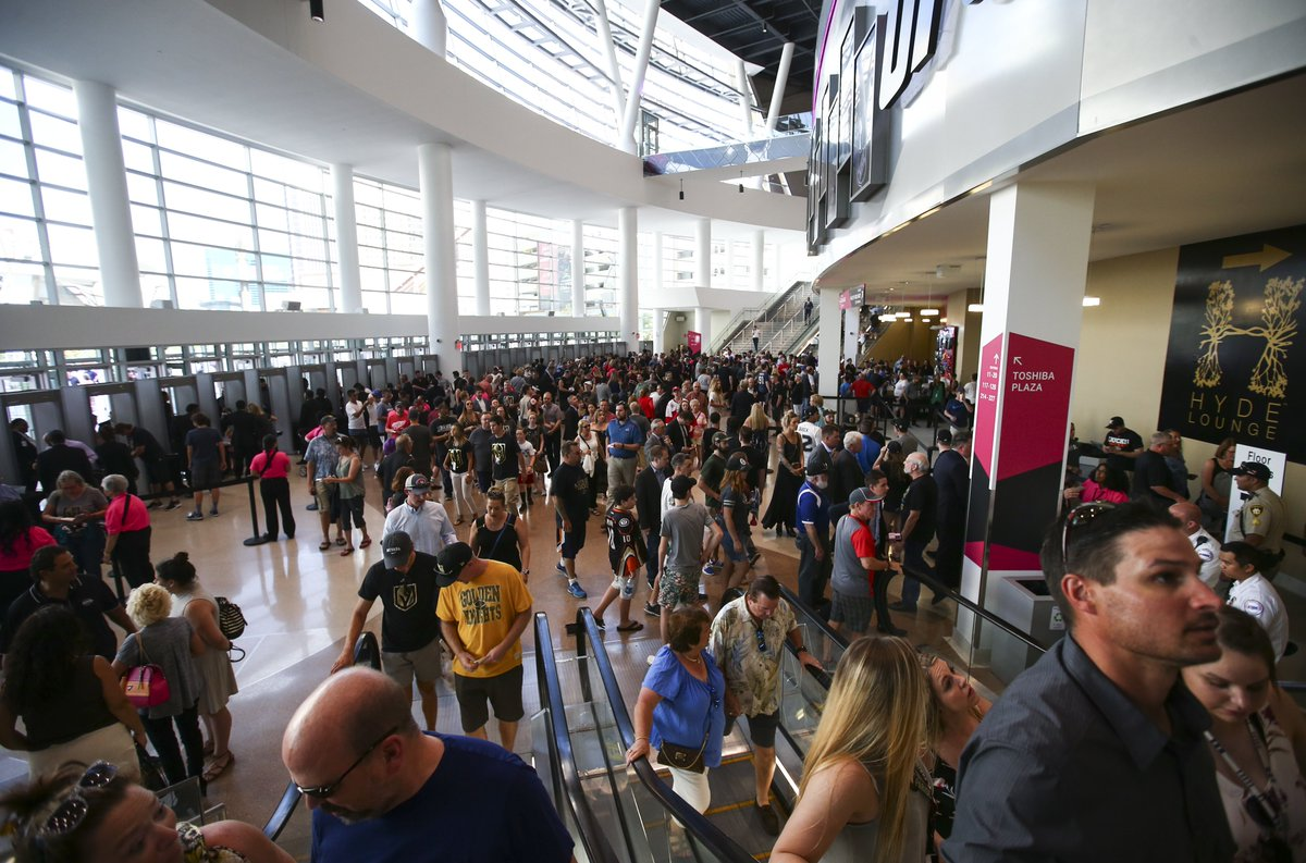 Droves of hockey fans are arriving ahead of the #NHLAwards and #NHLExp...