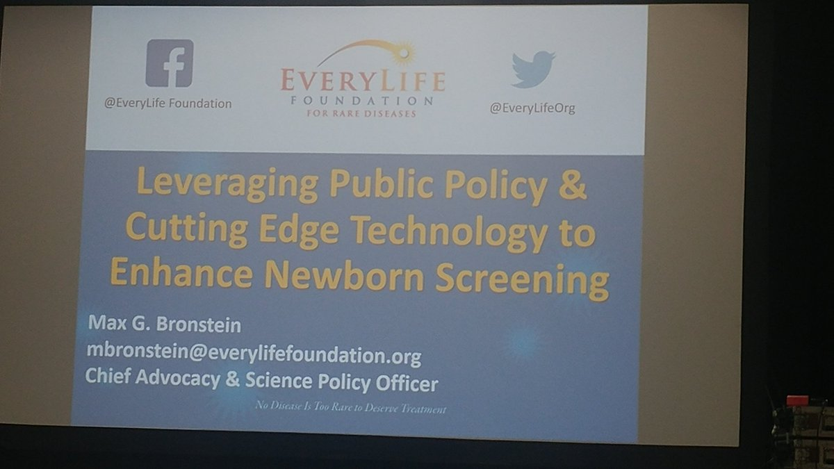 Excited to get more involved with #newbornscreening! Looking forward to this preso from @EveryLifeOrg at #Biology <br>http://pic.twitter.com/w4UYQAtfE1