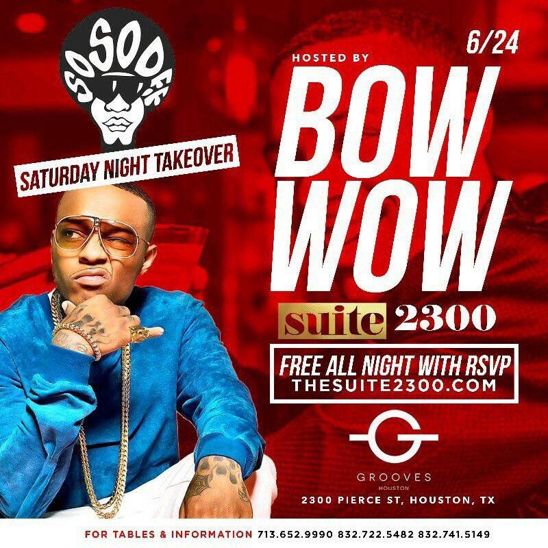 #Legend #BowWow #GroovesHouston #DM to get on the #GuestList #Houston #Tokyo #London #Sydney #Frankfurt<br>http://pic.twitter.com/gnj4ZaV97q
