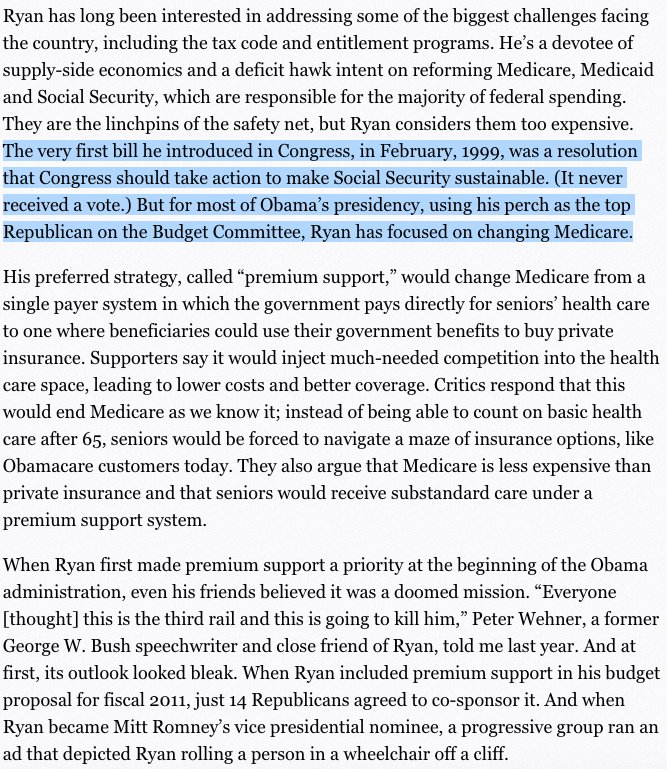 11/16 @politico: Never been a ? who has been  trying to derail #SocialSecurity #Medicare #Medicaid since 1999: #PaulRyan #NoAHCA #ACA <br>http://pic.twitter.com/VeXkslO2eb