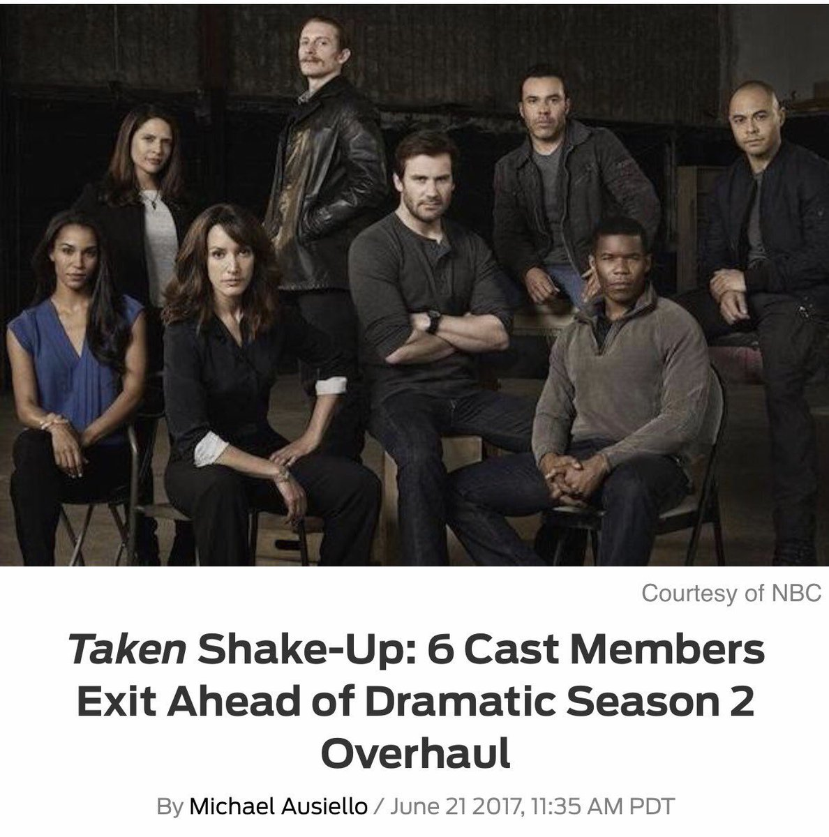sad to announce that I&#39;ll be exiting the #Taken franchise. cheers to this group of talented badasses &amp; thx to our fans! love u all so much!! <br>http://pic.twitter.com/9kQfAoS9kJ