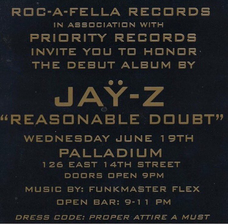 Bet y'all didn't know #ReasonableDoubt was released through #PRIORITY...