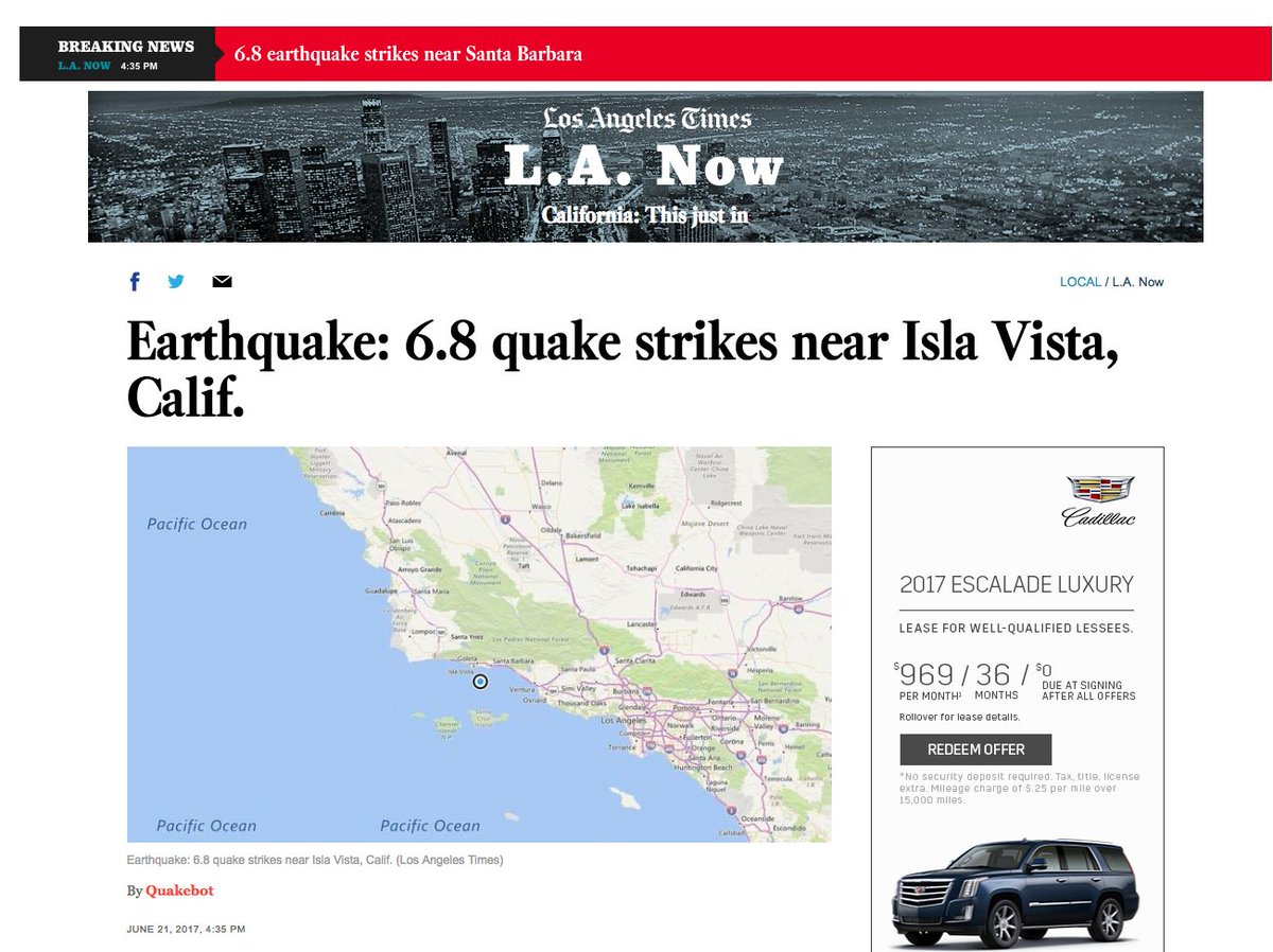 Accidental Alert Warns California Of An Earthquake That Happened In 1925