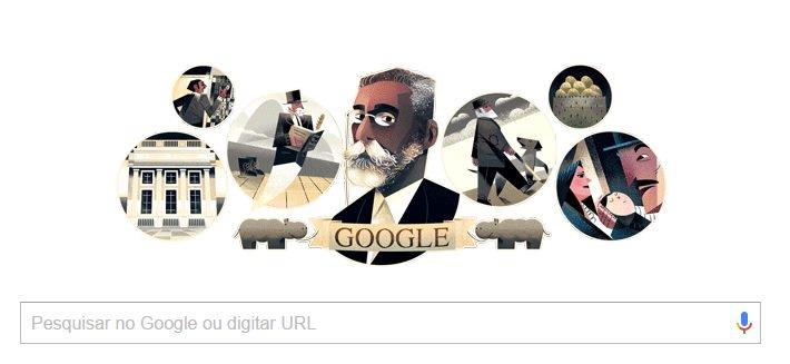 Doodle com Machado de Assis negro ganha elogios nas redes: 'finalmente o retrataram como ele é' https://t.co/yTl5Raa1ye