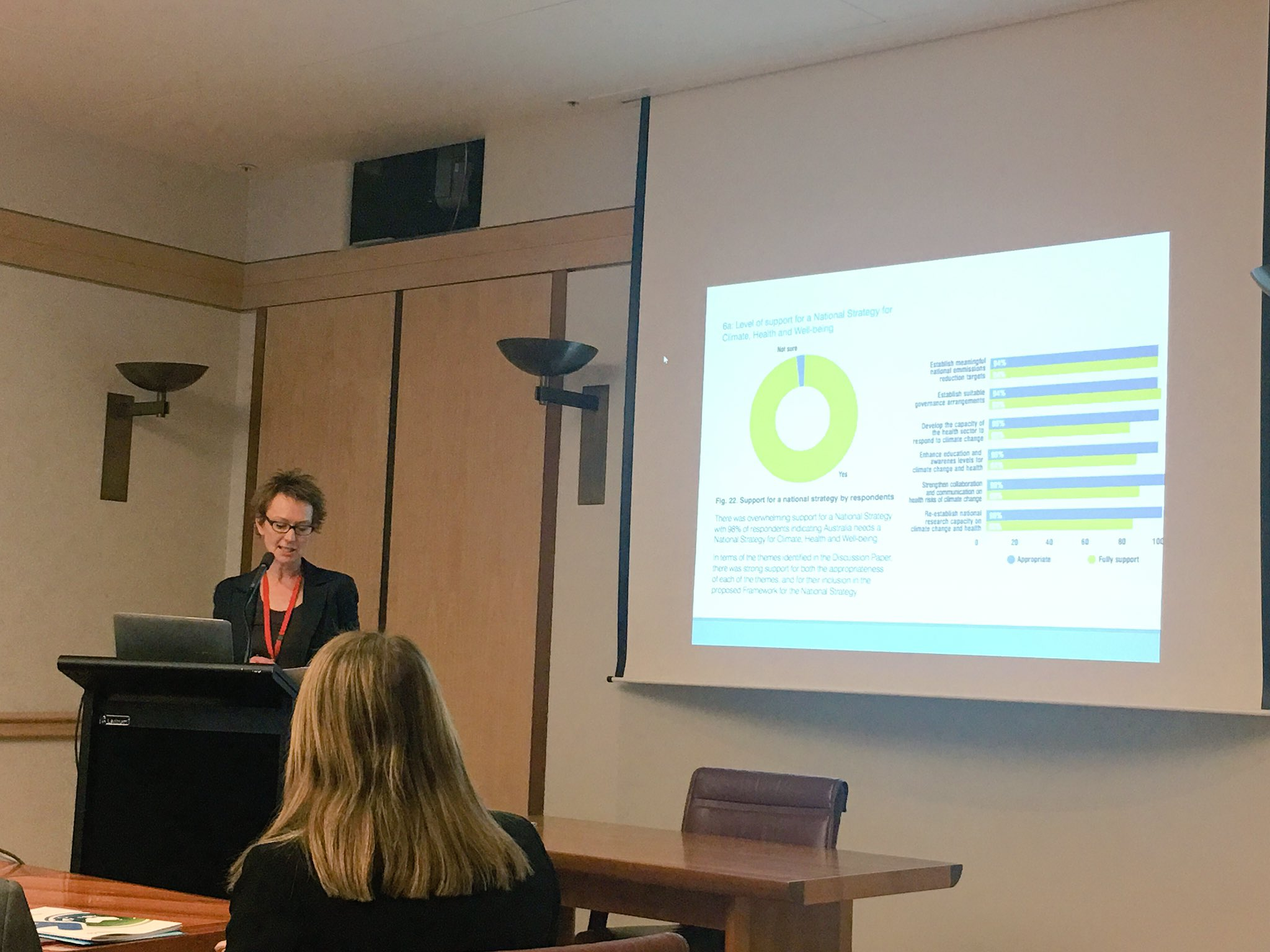 Fiona Armstrong introduces the Framework for a National Strategy on Climate, Health and Well-being for Australia @healthy_climate https://t.co/N7yYthLjd1