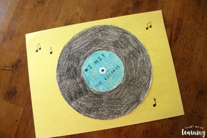 Super Cute Coffee Filter Vinyl Record Craft