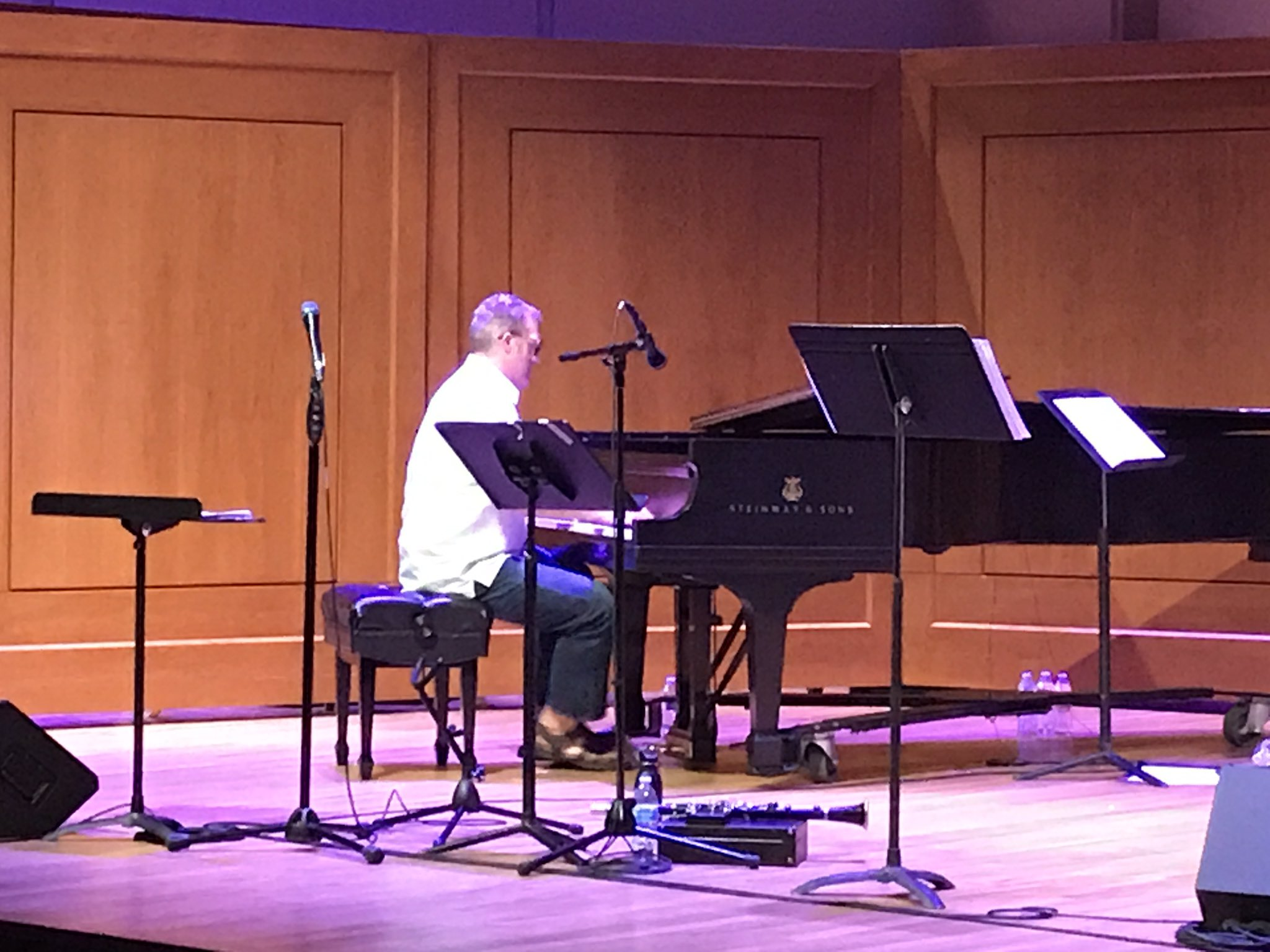 Anderson's 4th gig in as many nights, more gigs in next in few days, and he runs the UNC Jazz Workshop all week. Man does not stop #UNCjazz https://t.co/BhqFzcdJU0