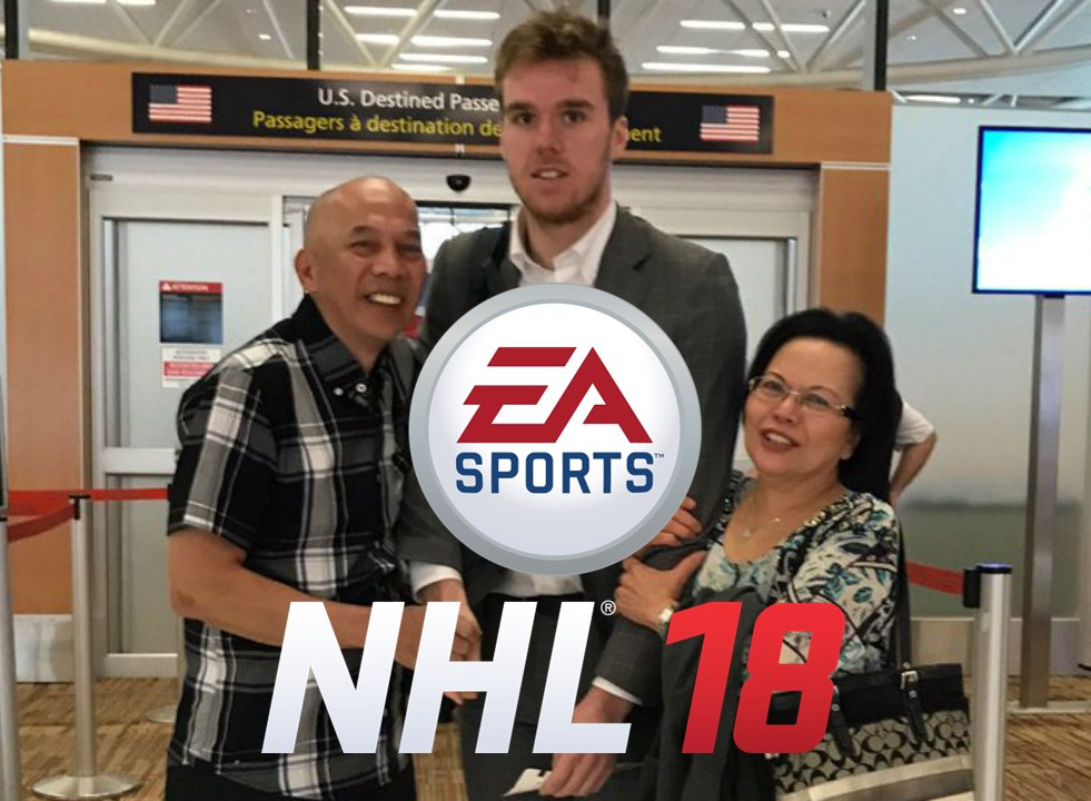 Wow. The NHL 18 cover looks great. #McDavid https://t.co/oFPYPO6A8t