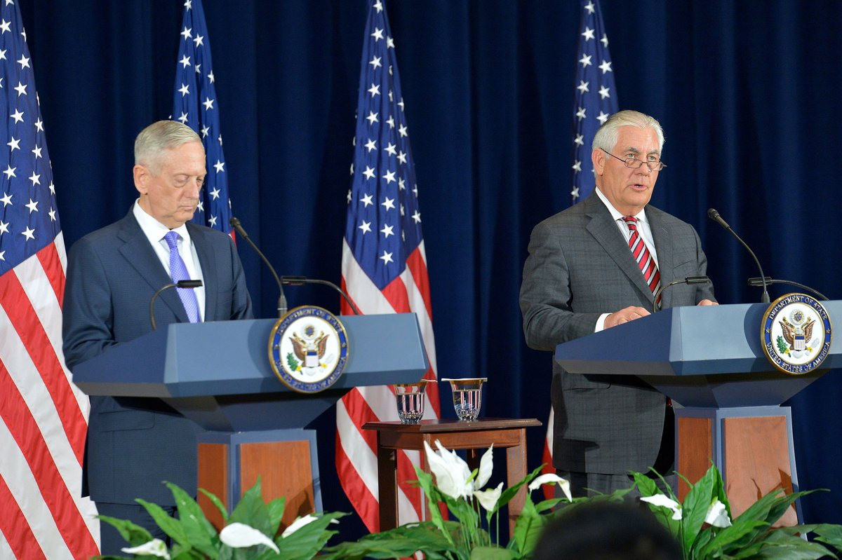 Sec Tillerson: US &  cal#Chinal for complete, verifiable & irreversible denuclearization of the  Peninsu#Koreanla. https://t.co/3CwAPee2nE