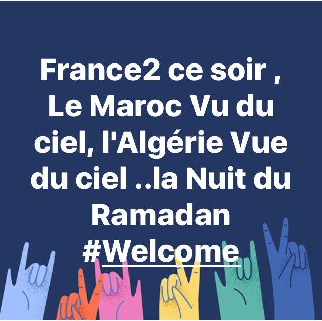 @ambafrancealger @France2tv ce soir #MarocVuDuCiel et #AlgerieVueDuCiel #VoyageDeReve