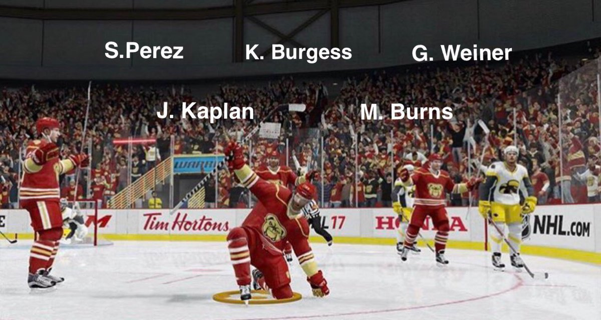 Tonight&#39;s lineup for our first ever Division 1 title game! Scratches: Shane Shell. #bowwow #letsdance<br>http://pic.twitter.com/CBzzCDpZcI