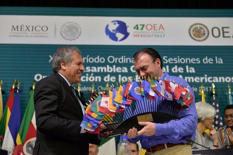 Concluyó la 47 #AsambleaOEA en México @SRE_mx @gobmx  https://t.co/AJg...