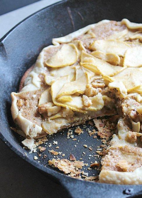 Simple Dessert: Apple Walnut Skillet Tart