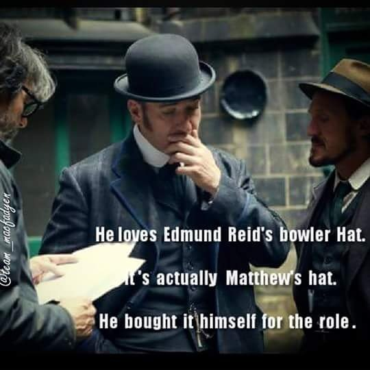 Facts and quotes. That bowler is a trademark! #MatthewMacfadyen #Rippe...