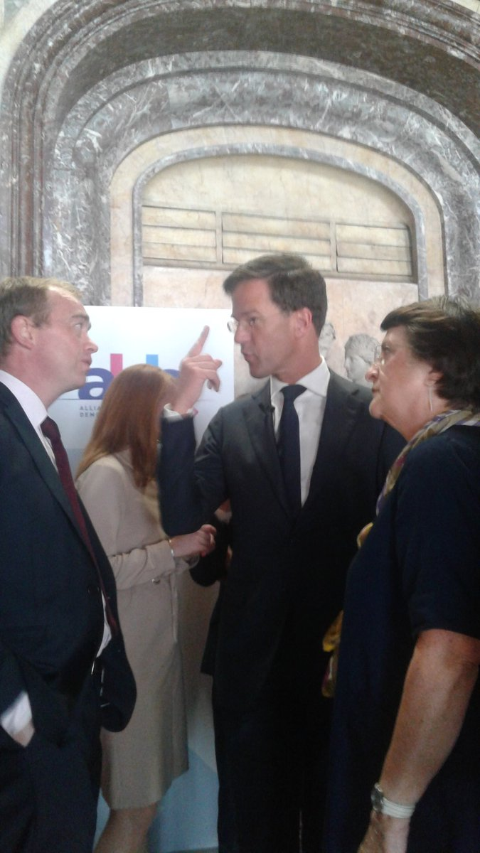 Here with @timfarron and Dutch PM at liberal family meeting ahead of C...