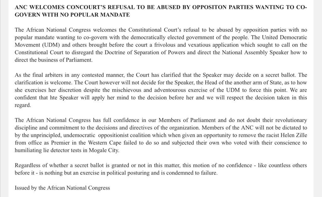 Thumbnail for Parliament speaker must decide on secret ballot