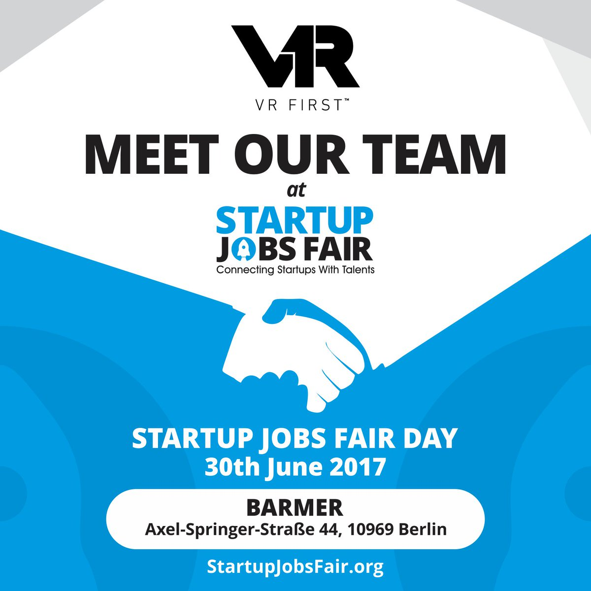 vr first on twitter vrfirstofficial is going to exhibit at startupjobsfair berlin on 3006 meet us at httpstcojyvy5ze5zm sjf17 startups jobs