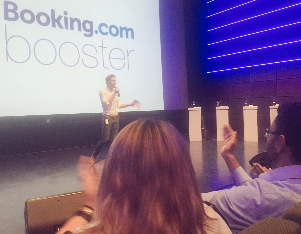 The #bookingbooster @bookingcom final #pitch is kicking off to create #socialgood through #travel<br>http://pic.twitter.com/t42Hcgi20n