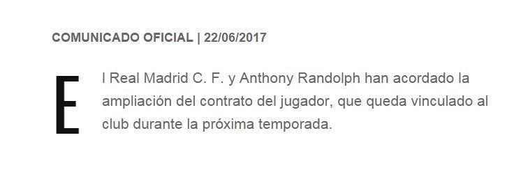 🏀 OFICIAL   Anthony Randolph RENUEVA con el Real Madrid. https://t.co/...