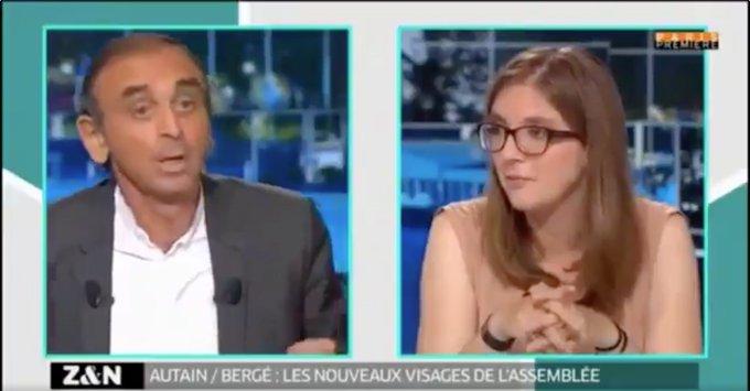 """VIDÉO - Eric Zemmour cartonne Aurore Bergé : """"On aurait mis une chèvre à votre place, elle aurait été élue"""" >> https://t.co/AfOyqVJqfc"""