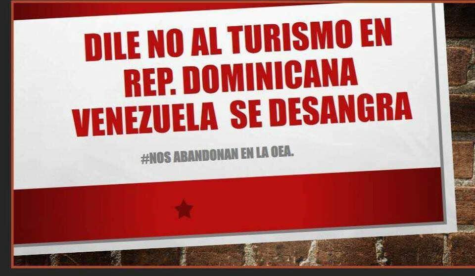 Increíble q República Dominicana no haya apoyado en @OEA_oficial el clamor del pueblo venezolano