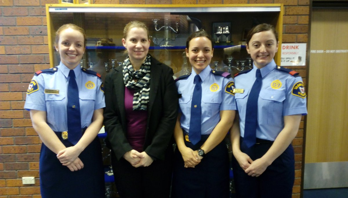 So proud to give the @UTAS_ /@TasmaniaPolice problem oriented #policing &amp; #vulnerability awards to these graduating recruits. Well done! <br>http://pic.twitter.com/lWJvtuDPVA
