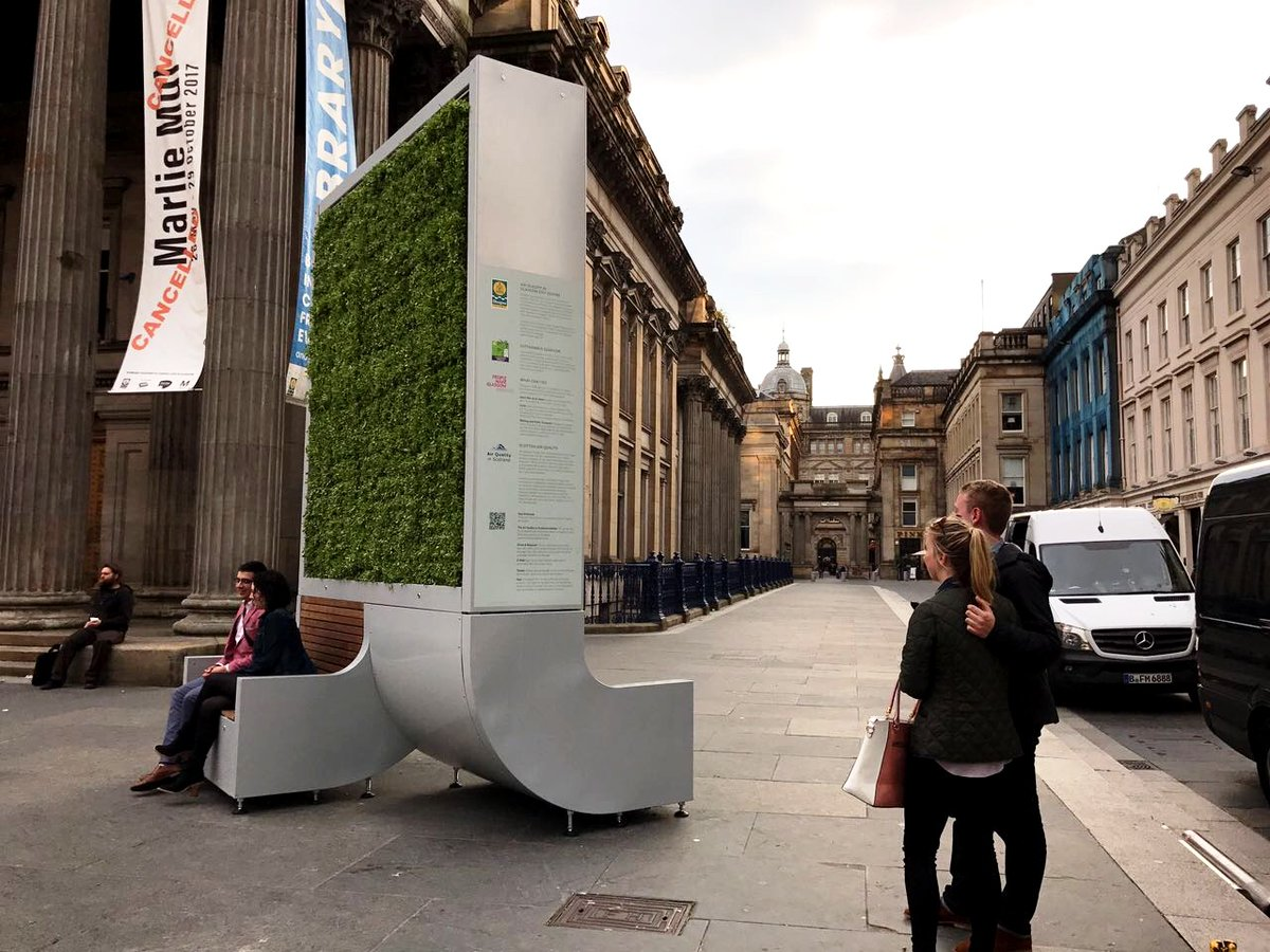 #Glasgow is the first UK city to have @mycitytree installed in key city centre locations! https://t.co/Aco8hVkFV8 https://t.co/aMp4Mnfslm