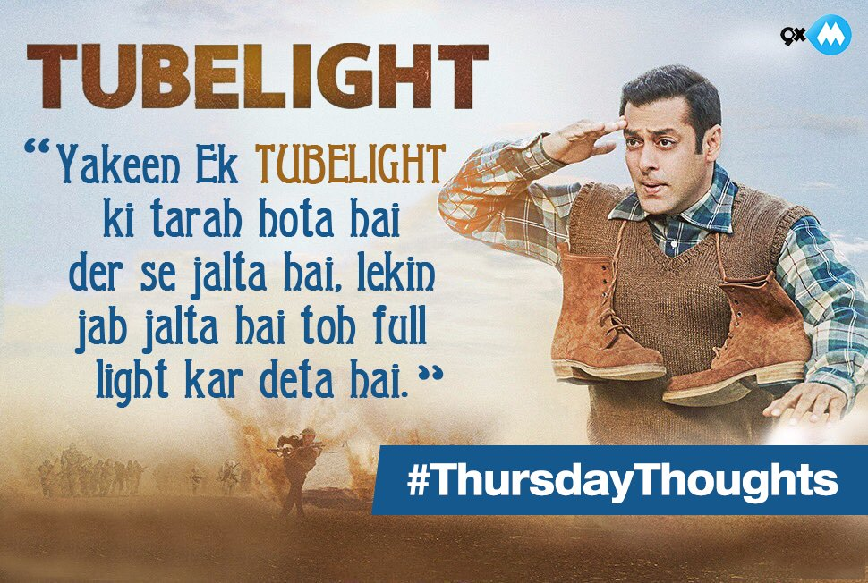 #Tubelight is coming tomorrow and here's a #ThursdayThoughts from the...